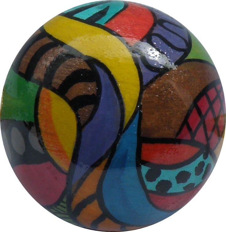 Colorfull wooden bauble ... :) Handpainted