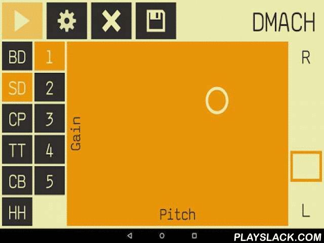 DMach - Drum Machine  Android App - playslack.com , DMach is a drum machine with 6 channels, a 16 step seqeuncer and real-time sound synthesis.Source code available at https://github.com/simonnorberg/dmachPermissions• Device ID & call information - required to mute drum audio playback during phone calls