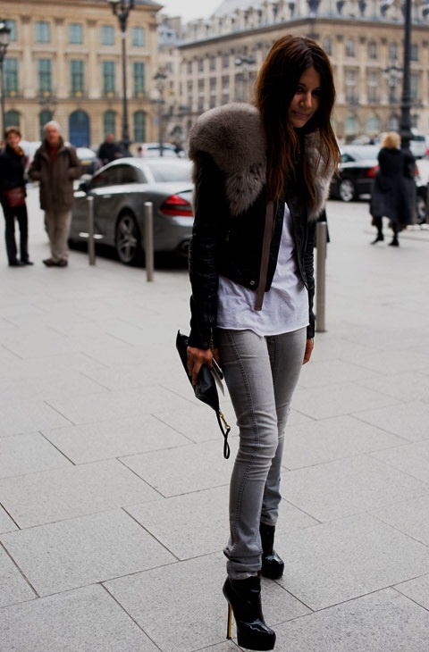 French street fashion.  I'll swap out the heels with some flats or boots