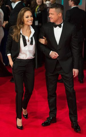 Consciously Coupling: Brad Pitt and Angelina Jolie Are Married at Last! – Vogue - Angelina Jolie in Saint Laurent