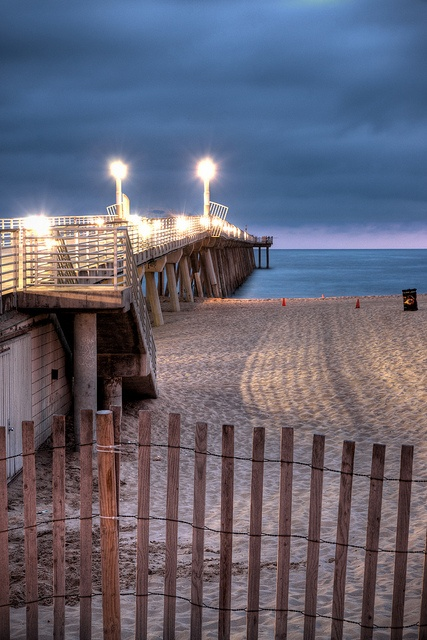 Hermosa Beach, California in the Blue Hour by chinasky1975