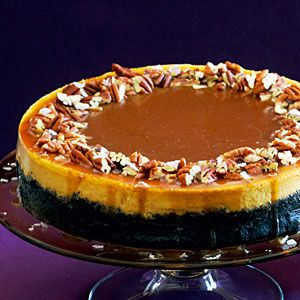 17 fall pumpkin recipes | Pumpkin-Orange Cheesecake with Chocolate Crust and Salted Caramel | Sunset.com: Sweet, Salts Caramel, Chocolates Crusts, Pumpkin Orange Cheesecake, Pumpkinorang Cheesecake, Pumpkin Cheesecake, Thanksgiving Desserts, Caramel Recipes, Salted Caramels