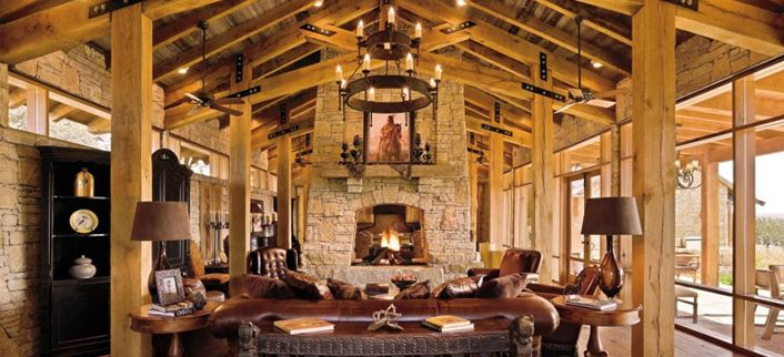 29 best images about log homes and rustic cabins on for Decorate log cabin interior