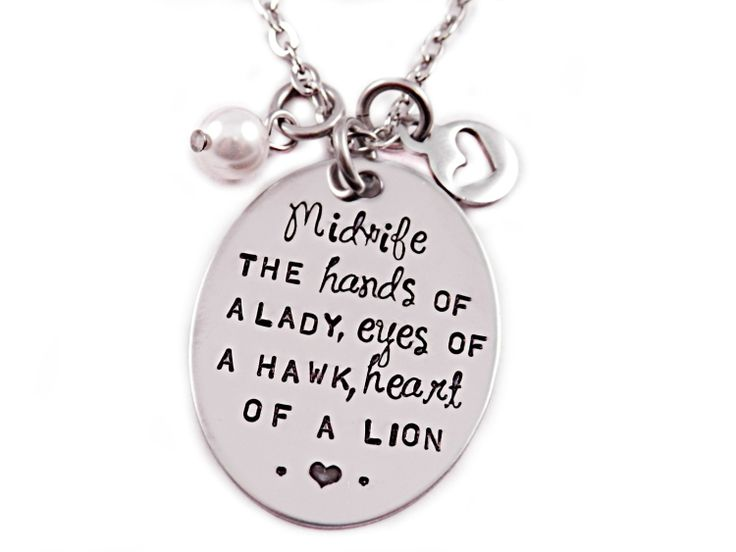 Midwife Necklace  Hand Stamped Stainless Steel  by Stampressions, $34.00