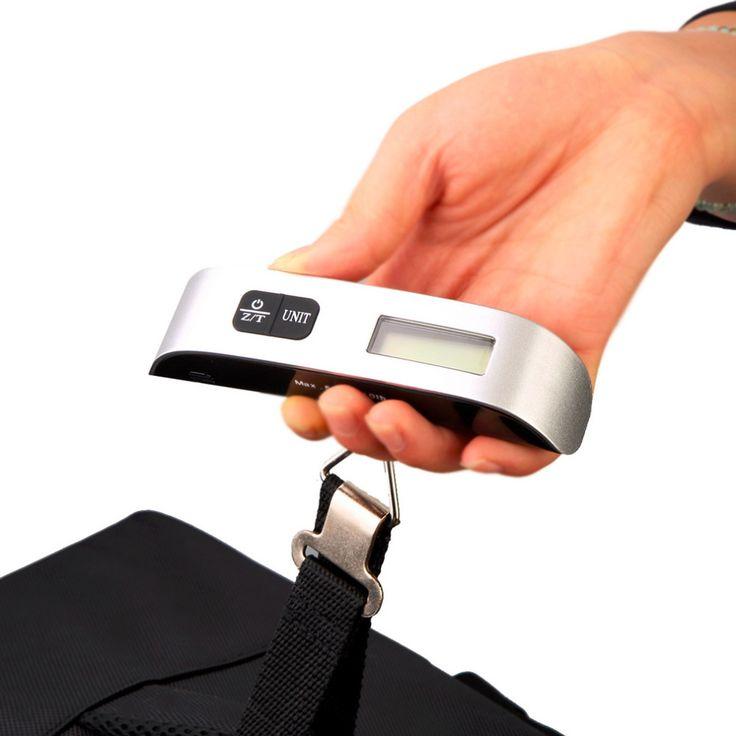 Peso bilancia balanza balanza digital balanza Electrónica Digital Escala del equipaje Escala Colgante Portable con Gancho de La Correa Nuevo