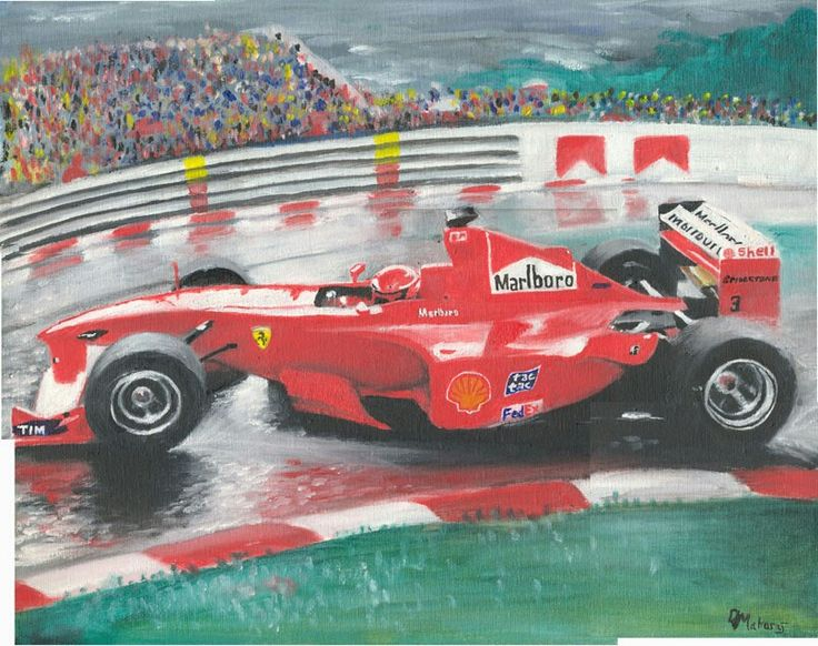 Schumacher. Oil on canvas