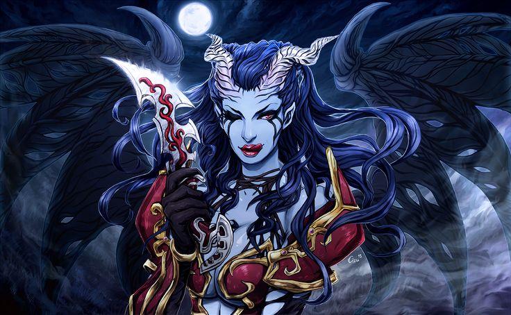 Queen of Pain Akasha Dota 2 Fanart - Art by Me [Cizu]