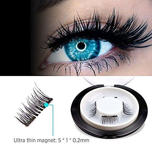 a9f5998b098 Amazon.com : Magnetic Lash, KINIVA Dual Magnetic No Glue 3D One Two Reusable  Fake Eyelash Extensions Eyelashes, Ultra-Thin Lightweight Double Magnets  Long ...