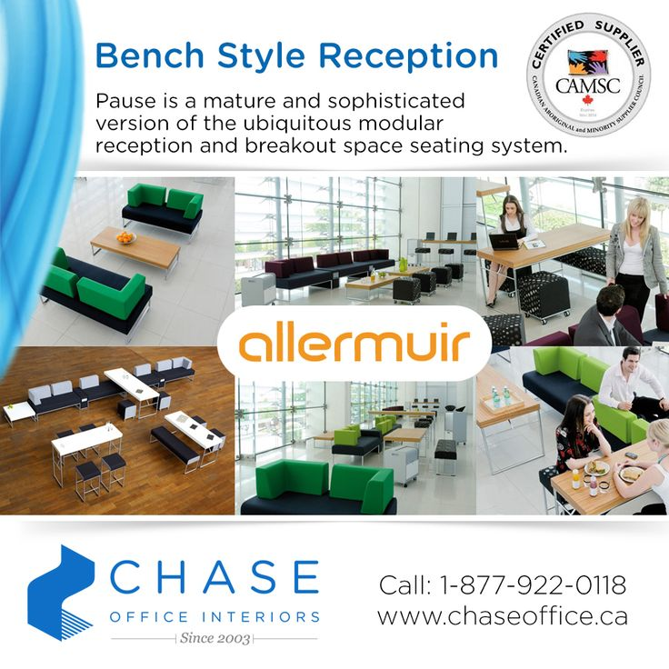 Check out this fabulous reception and lounge furniture by Allermuir! Please contact us for more information 1-877-922-0118.