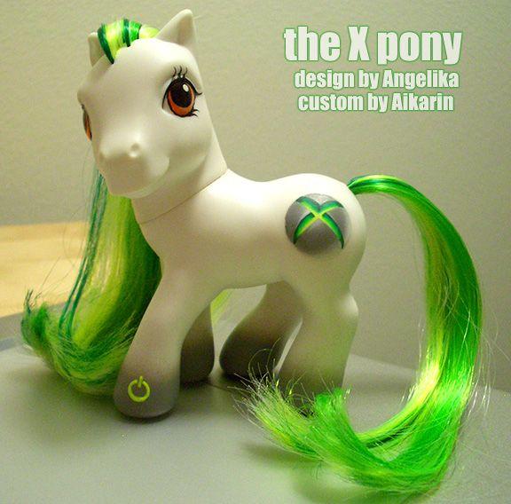 the x pony - xbox themed pony designed by angelika - custom my little pony by aikarin