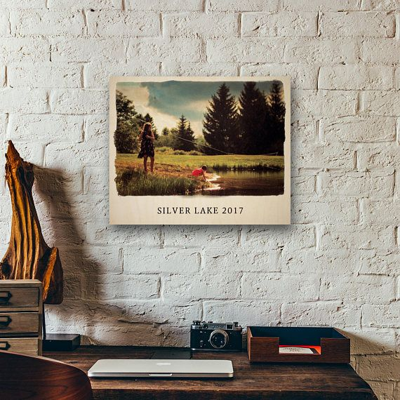 Watercolor Wood Print Your Photo Printed on Wood Photos on