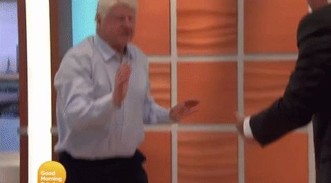 Piers Morgan helped Boris Johnson's 76-year-old dad do a handstand on live TV