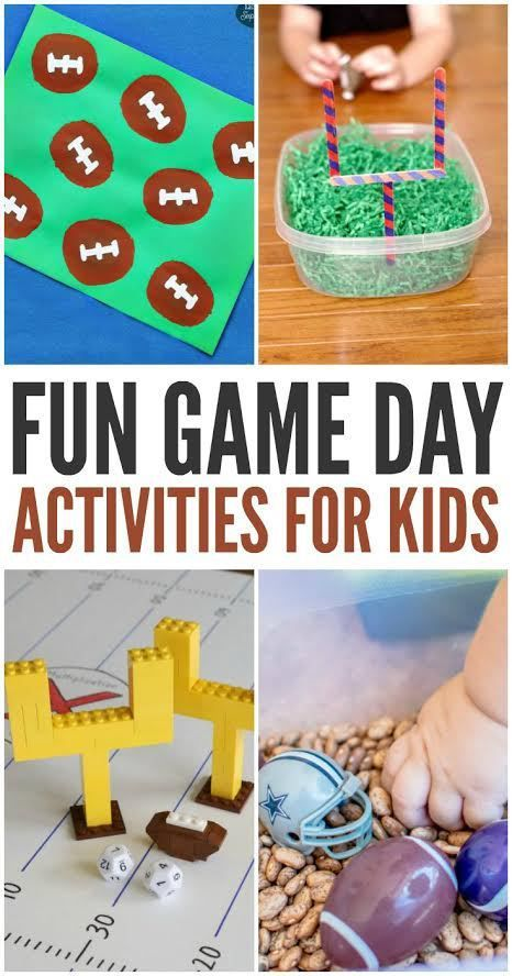 Planning a Super Bowl or game day party and want to make sure you have plenty of activities for your littlest football fans? Here are some of our favorite fun football game day activities for kids.