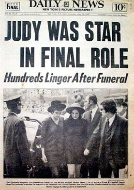 *DAILY NEWS ~ Judy was Star in Final Role, judy garland died of an accidental seconal drug overdose...