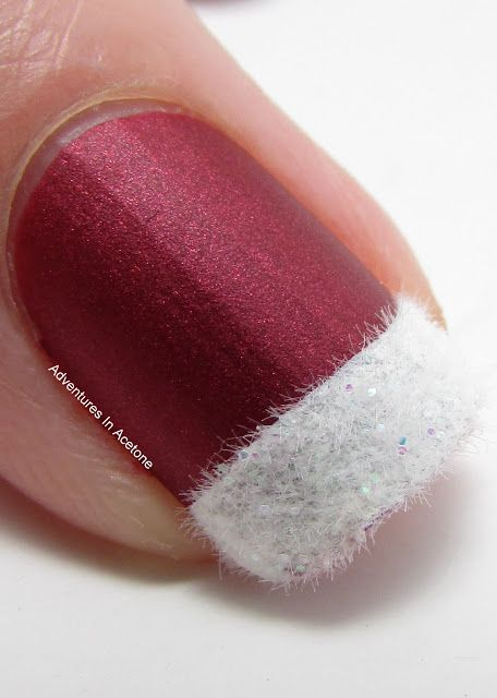 Digit-al Dozen DOES Festiveness: Santa Suit Nails!