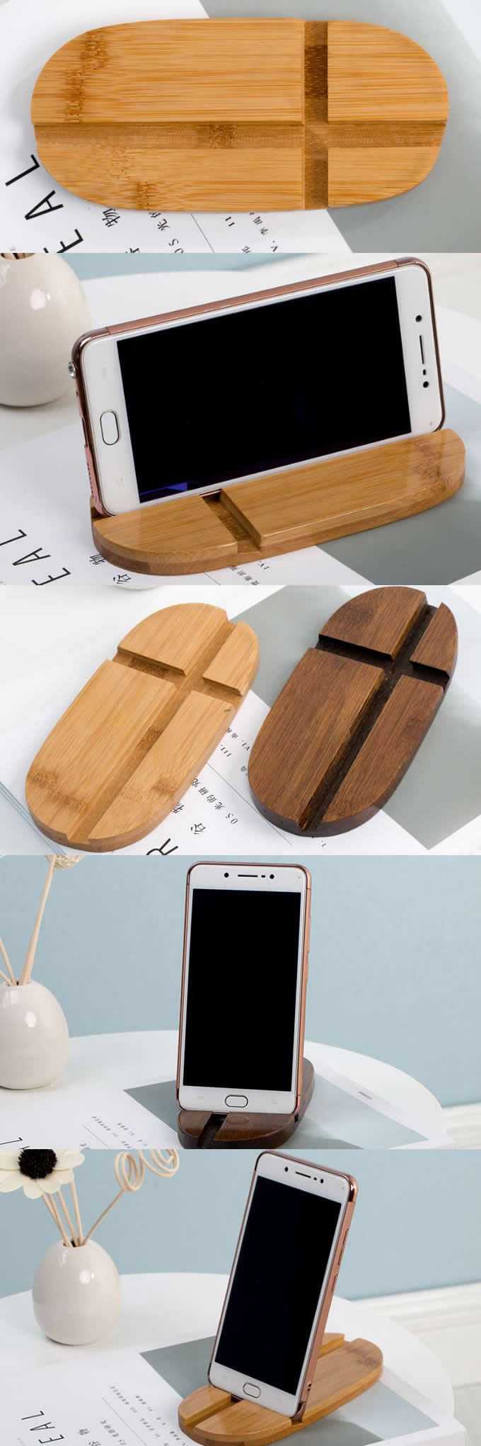Wooden Wood iPhone Cell Phone Smartphone iPad Stand Mount Holder Business Card Display Stand Holder desktop ornaments for iPhone 77 Plus6s6s Plus and other smartphones