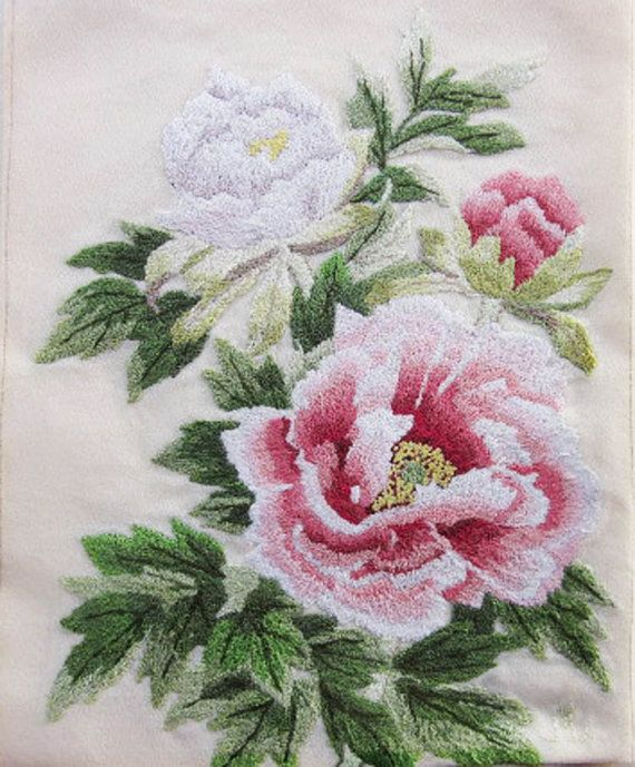 bunka embroidery | Bunka Embroidery of Roses by florasalika on Etsy