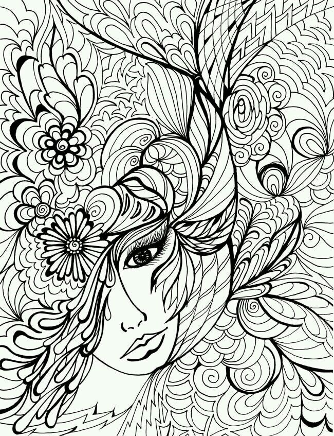 Adult Zen Anti Stress Face Vegetation Coloring Pages Printable And Book To Print For Free Find More Online Kids Adults Of