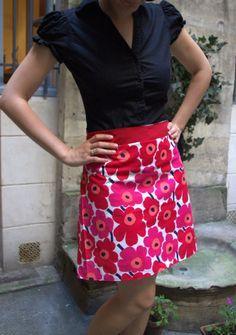 Jupe trapèze à fleurs | Les cousettes de Marinette