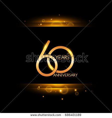 60 years golden anniversary celebration logo