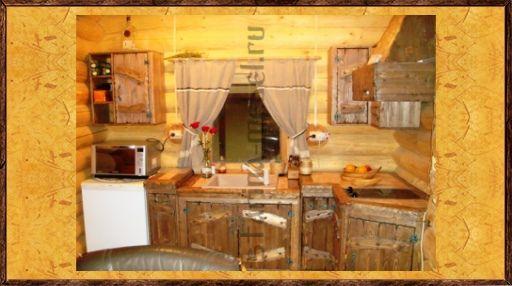 Состаренная кухня из массива сосны купить под заказ