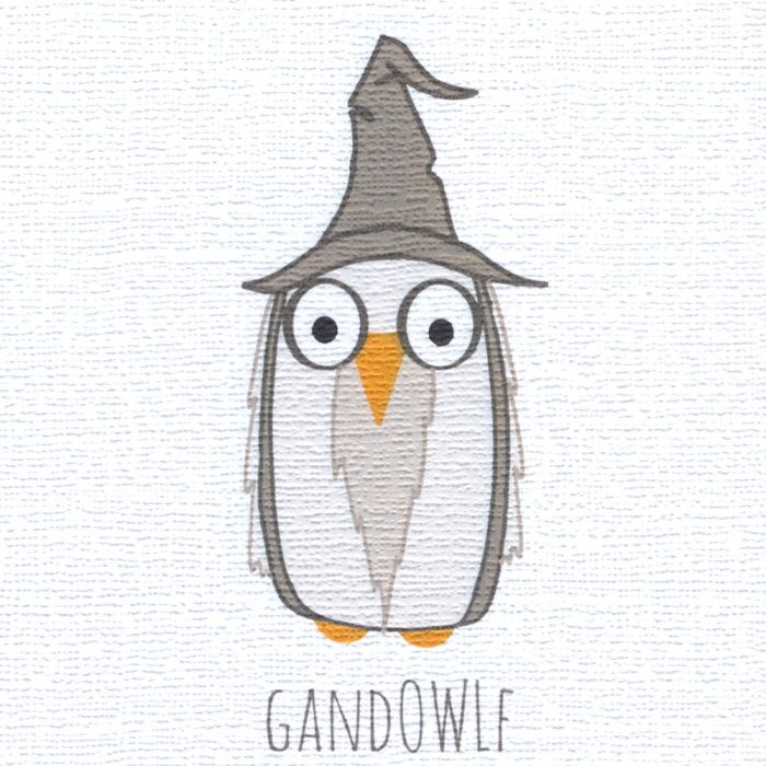 """""""Gandowlf"""" a wizard card for a wizard person, especially if they also have a pointed head. Blank inside"""