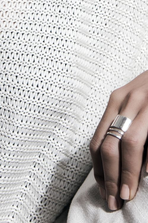 Silver Sunset Ring