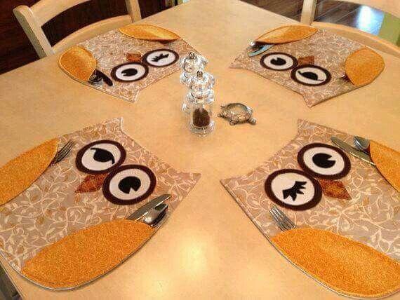 Idée set de table chouette... ...                              …