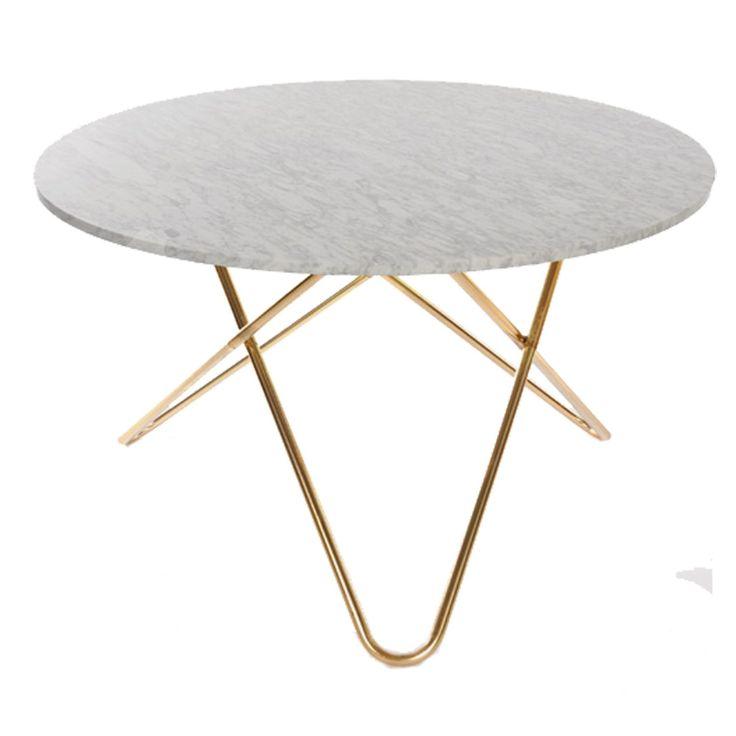Big O pöytä, valkomarmori/messinki ryhmässä Huonekalut / Pöydät @ ROOM21.fi (128751)
