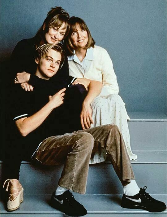 "With Diane Keaton and Leonardo Dicaprio, ""Marvin's room"" (1996)"
