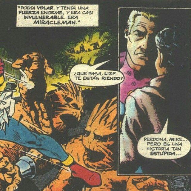 """""""Cómo deprimir a un superhéroe. En """"Miracleman"""" de Moore #comic #superheroe #brokendream"""""""