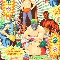 Tela retro wrestling Alexander Henry Super Lucha Libre, algodón. 14€/m