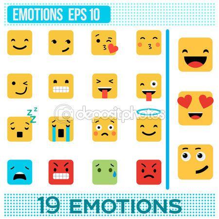 Площадь эмоции. Желтые смайлики. Emoji плоский дизайн. Векторные иллюстрации. Набор смайликов милый. Набор эмоций — Векторное изображение © albode #114865856