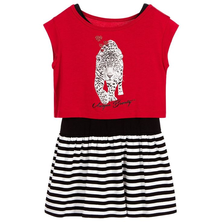 Lapin House Girls Red & Black 2 Piece Dress at Childrensalon.com