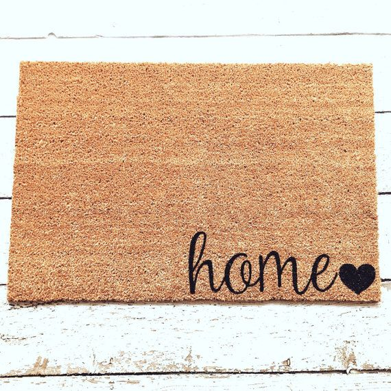 Home Welcome Mat / Doormat Door Mat Gift  // WM13 by LoRustique