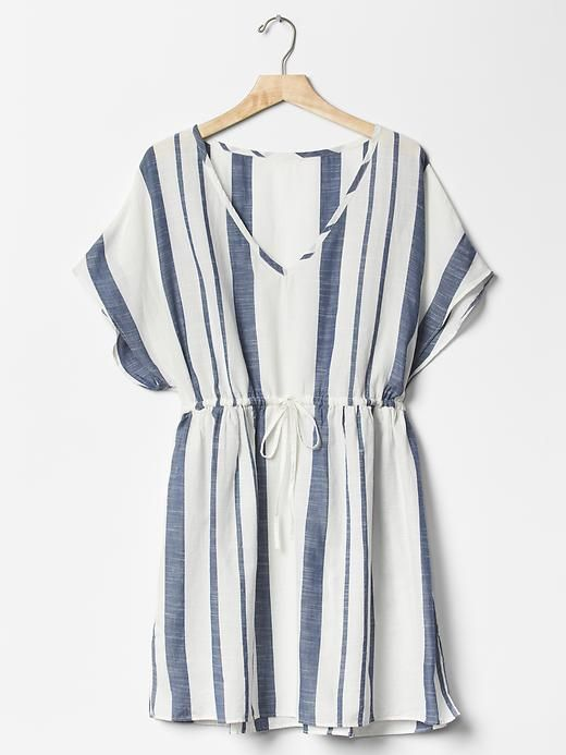 Navy Stripe Cover Up