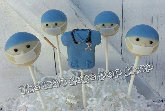 Doctor Surgeon Cake Pops  12 Pops   Medical di TheMaDCakePopShop, $42.00