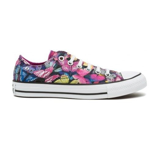 Converse All Star Ox Graphics - Col. Butterflies , Pink , White the-urban-shop