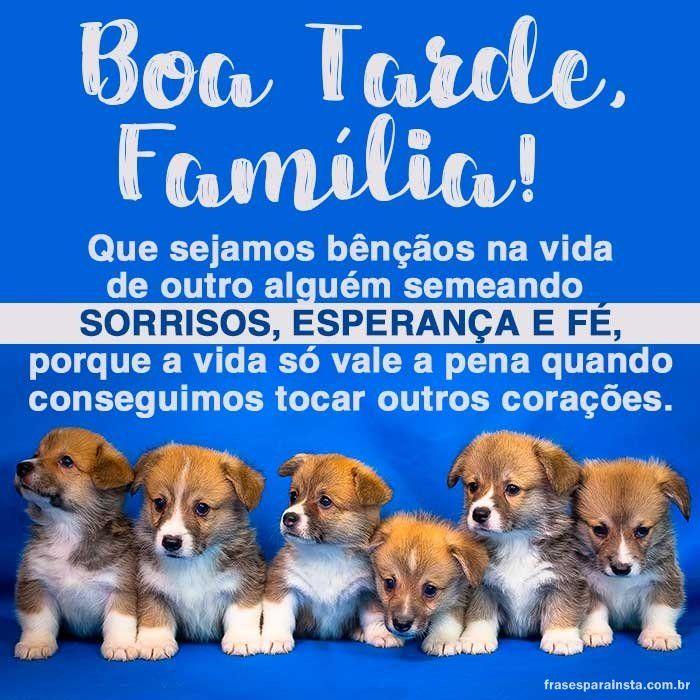 Boa Tarde Familia Boa Tarde Familia Boa Tarde Boa Noite Familia