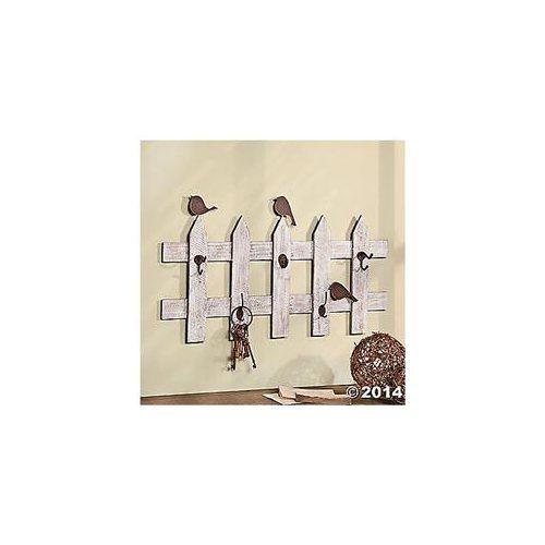Birds on A Fence with Decorative Hooks