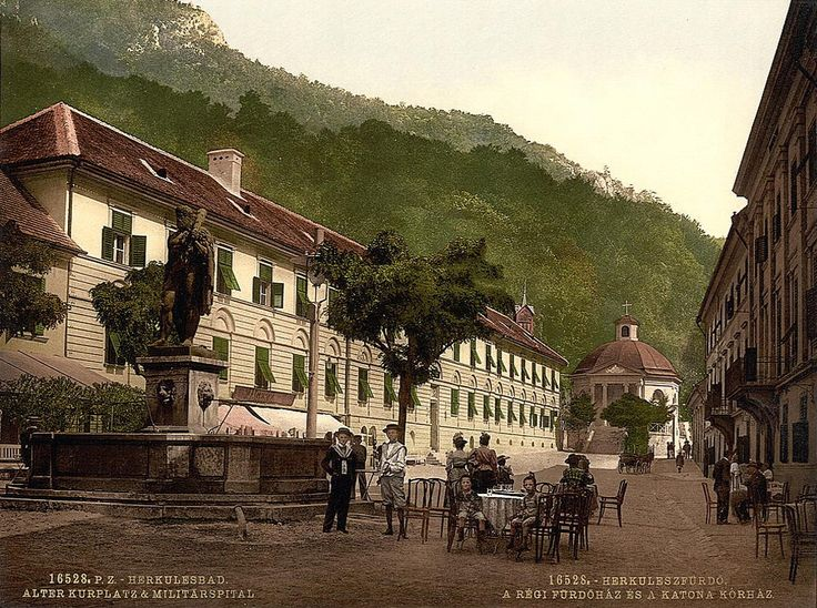 Herkulesbad Hungary - old postcard from the USA National Library