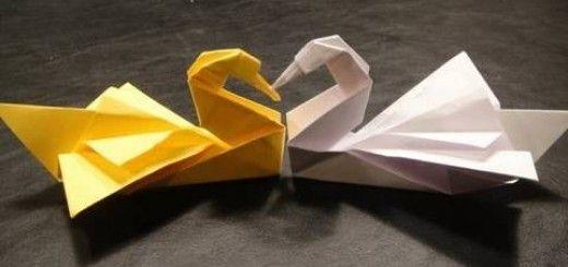 Origami-joutsen