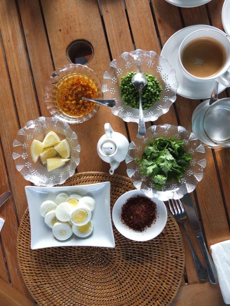 Condiments for Mohinga