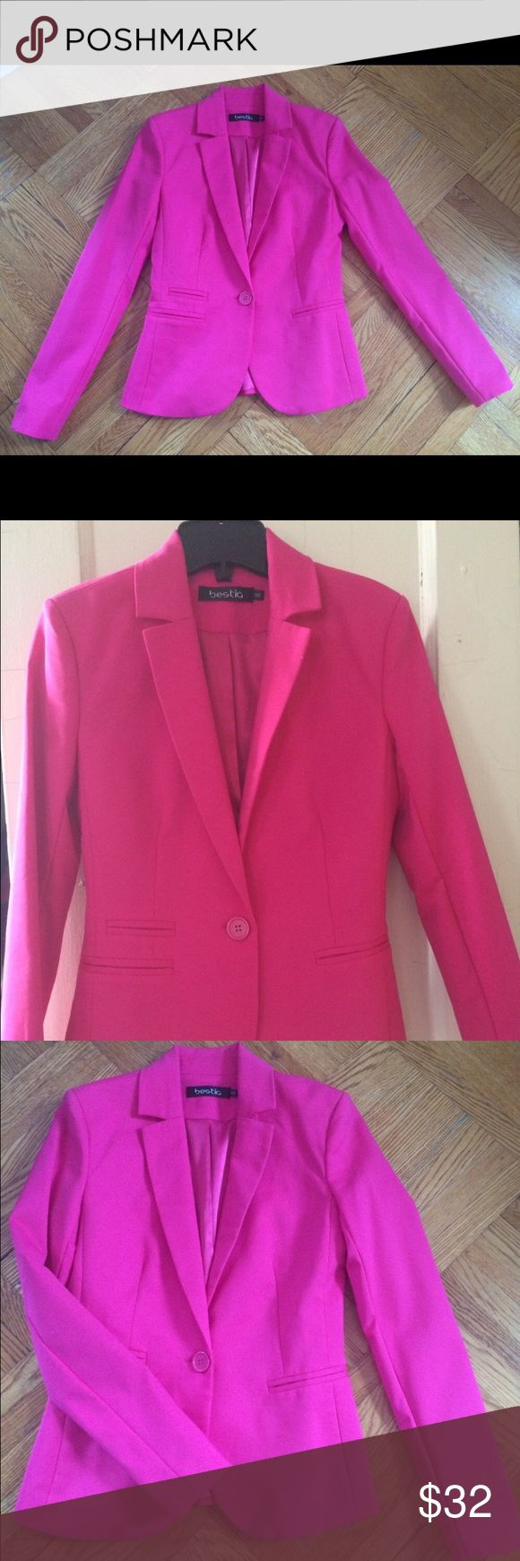 Women's hot pink blazer Perfect condition! Beautiful fit :) ** very similar to the hot pink Lilly pulitzer blazers Lilly Pulitzer Jackets & Coats Blazers