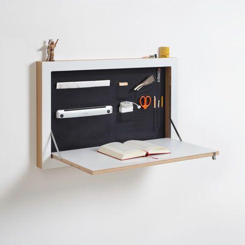 Escrivaninha design original / em madeira / com compartimento de arrumação / de parede FLÄPPS Secretary of State AMBIVALENZ
