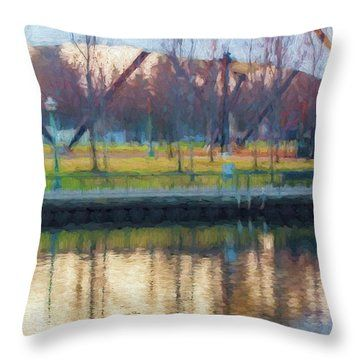 """Hinting At Spring"" by Terry Davis #Spring #Impressionistic #Painting #Scenery #Light #Stockton #California #ThrowPillow"