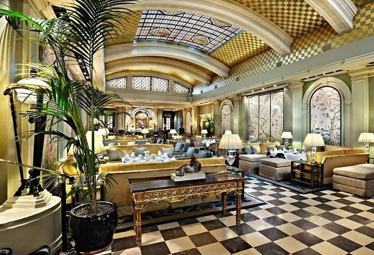 The Palm Court at London's Park Lane Hotel is well known for its Art Deco Interior.