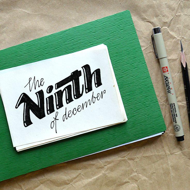 #lettering #type #day #dayoftoday #handtype #365days #mashabutorina #craft #pattern #december #winter