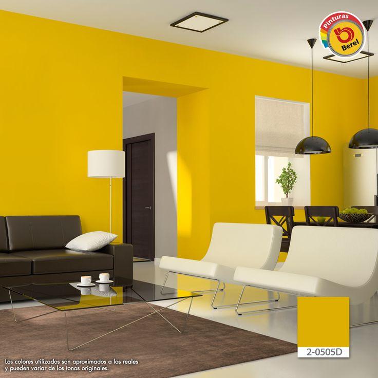 El amarillo denota energ a y estimula el apetito por lo Colores para paredes de salas pequenas
