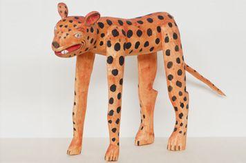 OAXACA Wood Carving Large Jaguar:オアハカ ウッドカービング ジャガー